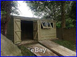18x8 19mm Super Heavy Duty Shed 3x2 Frame Work