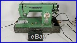 1960's Morse Model R-5LP Super Dial Green Heavy Duty Sewing Machine