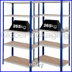 2 Bays Of SUPER HEAVY DUTY & WIDE Industrial Warehouse Shelving 1800x1200x450mm