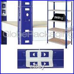2 Bays Of SUPER HEAVY DUTY & WIDE Industrial Warehouse Shelving 1800x1200x600mm