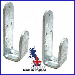 2'Drop In' Brackets & Fixings Super Strong 5mm Steel 40mm Wide Fits 60 x 30mm