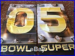 2 Super Bowl 50 Levi Stadium Banner 2 Sided Heavy Duty 6'x3' Weatherproof