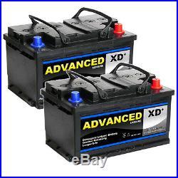 2 X FORD TRANSIT BATTERY 12v 74ah 750cca Super Heavy Duty for Diesel 5 yr (PAIR)