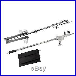 238cm Tube Stand with Super Heavy Duty 120-220cm Stainless Steel Boom Studio