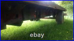 24 ft flat heavy duty trailer on super single tyres brakes and light s