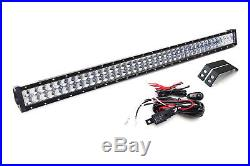 240W 40 LED Light Bar withBehind Grille Mounts & Wiring For 2014-up Toyota Tundra