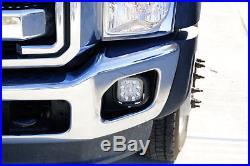27W LED Fog Lights with Bezels Brackets Wiring For 11-16 F250 F350 F450 Super Duty