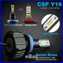 2Pair Combo CSP 30W 9005+H11 20000LM LED Car Headlight High/Low Beam Bulbs White