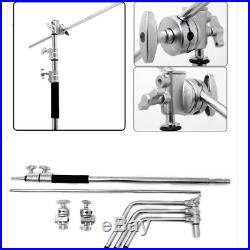 2x C-Stand Boom Arm Grip Head Super Heavy Duty 300x127cm Adjustable For Studio
