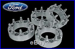 4 PC FORD 8x170 MM 2 INCH THICK WHEEL SPACERS With 14x2 LUG NUTS HEAVY DUTY DIESEL