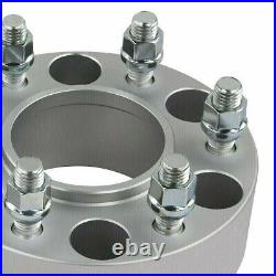 4x 1.5 Hubcentric Wheel Spacers + 12 Ext. Studs For 95-20 Tundra Tacoma 6x5.5