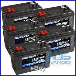 5 x SUPER HEAVY DUTY XD31 Leisure Battery 12v 5yr Warranty 115 ah 1000cca
