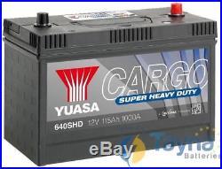 640SHD Yuasa Cargo Super Heavy Duty Battery 12V 115Ah