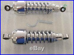 87 to 2007 VT1100 SHADOW ACE SPIRIT SABRE CHROME HEAVY DUTY 10.5 LOWER SHOCKS