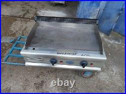 ACE LPG griddle commercial table top propane gas flat grill heavy duty 80x50x35