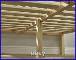Avon Black 6ft Super Kingsize Solid Pine bed frame Heavy Duty (EB100)