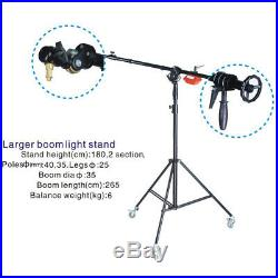 BA07 Super Heavy Duty Boom Arm STAND 6kg Counterweight wheels Rotatable Large Qu