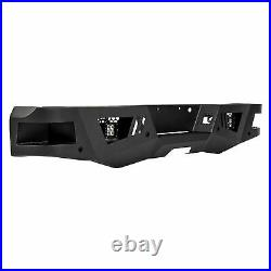 Black Horse ARMOUR Heavy Rear Bumper LED Fits 17-20 Ford F-250 / 350 Super Duty