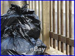 Black Super Extra Heavy Duty Refuse Bags Sacks Bin Liners Rubbish Bag 250g Gwh3