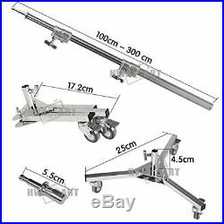 C-Stand Super Heavy Duty Castor Wheels Boom Arm 300cm For Photography Studio