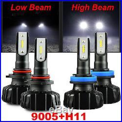 CSP 10000LM 60W 9005 H11 Headlight High/Low Beam Fog Light Cornering Bulbs White