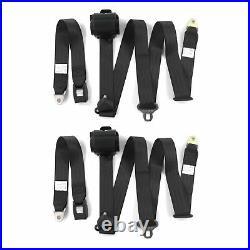 Camaro 1970 1981 Standard 3pt Black Retractable Bucket Seatbelt Kit 2 Belts