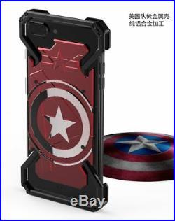 Case Cover iPhone 6 6S 7 8 Plus Super Hero Captain America Armor Heavy Duty NEW