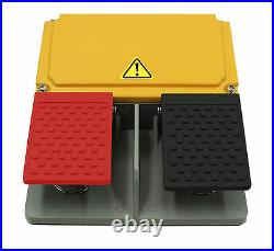 Double Pedal Foot Switch Heavy Duty Industrial ALL ALUIMINUM CAST D3