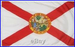 Florida Flag 4x6 Foot Flag Banner (Heavy Duty 150D Super Polyester)