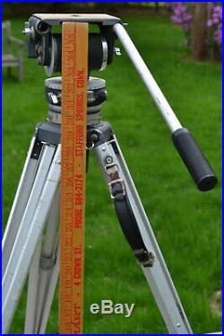 Fluid Head Miller Head Unit & Aluminum Tripod Legs Super Stix Vtg Heavy Duty