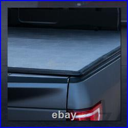 For 2001-2003 Ford F150 5.5 Ft Short Bed Tri-Fold Soft Tonneau Cover+LED Lights