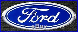 Ford Blue Oval Heavy Duty Steel Metal Sign Ford Licensed (Super Size)