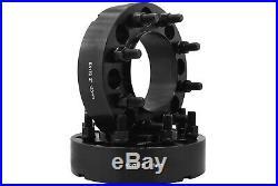 Ford F-250 F-350 Super Duty Black Hub Centric Wheel Spacers Adapters Heavy Duty