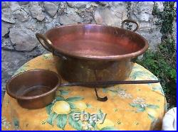 French copper Jam Pot Super Heavy Duty Pan Ladle Large 17 4 Gallon Cook Caldron