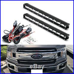 Front Grille LED Light Bar with Front Grill Mount, Wire For 18-up Ford F150 XL XLT