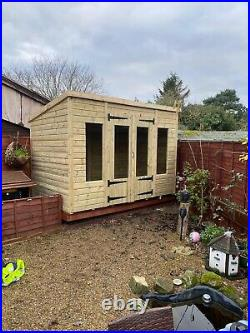 GARDEN SHED SUMMER HOUSE TANALISED SUPER HEAVY DUTY 10x6 19MM T&G. 3X2