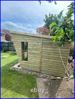 GARDEN SHED SUMMER HOUSE TANALISED SUPER HEAVY DUTY 10x8 19MM T&G. 3X2