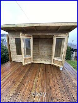 GARDEN SHED SUMMER HOUSE TANALISED SUPER HEAVY DUTY 12x6 19MM T&G 3X2 BIFOLD