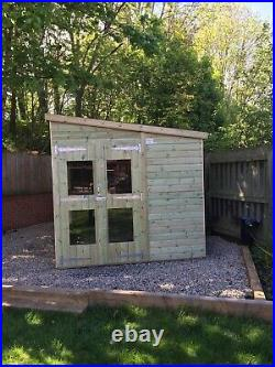 GARDEN SHED SUMMER HOUSE TANALISED SUPER HEAVY DUTY 14x8 19MM T&G. 3X2