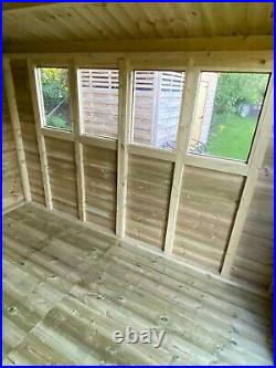 GARDEN SHED SUPER HEAVY DUTY TANALISED 10x8 APEX 19MM T&G. 3X2