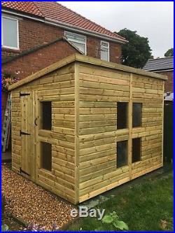 GARDEN SHED SUPER HEAVY DUTY TANALISED 10x8 PENT 22MM T&G. 3X2