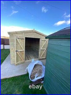GARDEN SHED SUPER HEAVY DUTY TANALISED 16x10 APEX 19MM T&G. 3X2