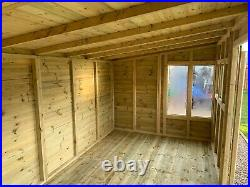 GARDEN SHED SUPER HEAVY DUTY TANALISED 16x8 PENT 19MM T&G. 3X2