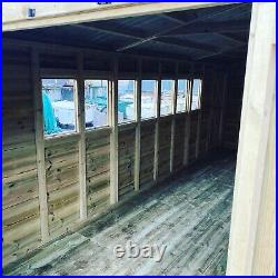 GARDEN SHED SUPER HEAVY DUTY TANALISED 20x10 APEX 19MM T&G. 3X2