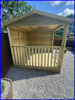 GARDEN SHED TANALISED SUPER HEAVY DUTY 16x8 19MM T&G. 3X2 WITH HOT TUB SHELTER