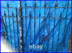 Galvanised super heavy duty iron driveway gates and pedestrian gate