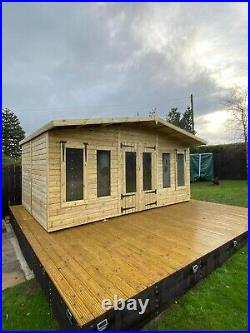 Garden Shed Summer House Tanalised Super Heavy Duty 16x10 19mm T&g. 3x2
