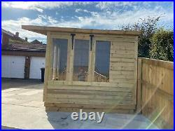 Garden Shed Summer House Tanalised Super Heavy Duty 18x8 19mm T&g. 3x2