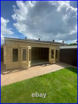 Garden Shed Summer House Tanalised Super Heavy Duty 20x10 19mm T&g. 3x2