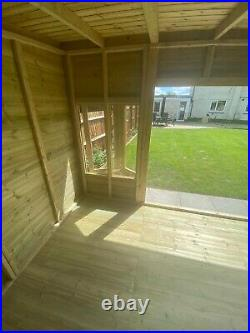 Garden Shed Summer House Tanalised Super Heavy Duty 20x10 19mm T&g. 3x2 Bifold